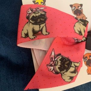 Other - NWT (2) Pug Puppy bows
